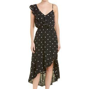 1.State Black w/ white polka dot midi dress NWT